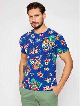 Polo Ralph Lauren Polo Ralph Lauren T-Shirt Ssl 710829182001 Niebieski Slim Fit