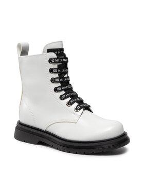 Tommy Hilfiger Tommy Hilfiger Kozaki Lace Up Bootie T4A5-32010-0776100 M Biały