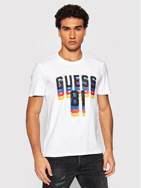 Guess Guess T-Shirt M1BI37 J1311 Bílá Regular Fit