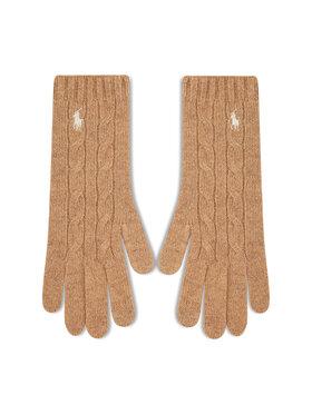 Polo Ralph Lauren Polo Ralph Lauren Дамски ръкавици Classiccable 455858418004 Бежов