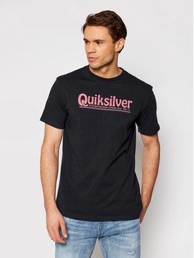 Quiksilver Quiksilver Póló New Slang Ss EQYZT05754 Fekete Regular Fit