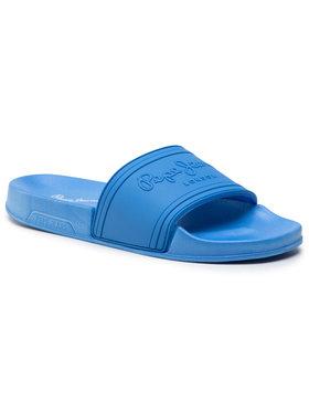 Pepe Jeans Pepe Jeans Klapki Slider Unisex PLS70081 Niebieski