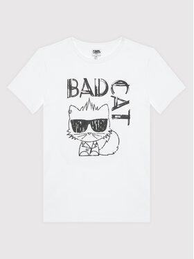 KARL LAGERFELD KARL LAGERFELD T-Shirt Z25303 S Biały Regular Fit