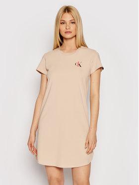 Calvin Klein Underwear Calvin Klein Underwear Noční košile 000QS6358E Béžová Regular Fit