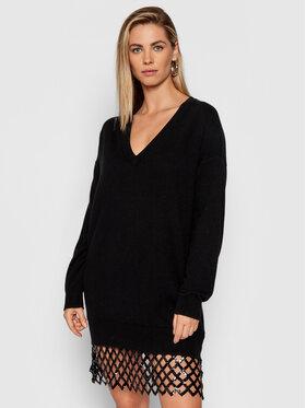 Pinko Pinko Úpletové šaty Pica 1G1684 Y779 Čierna Relaxed Fit