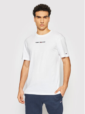 Tommy Jeans Tommy Jeans Тишърт Small Text DM0DM09701 Бял Regular Fit