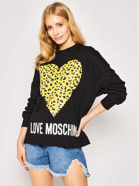 LOVE MOSCHINO LOVE MOSCHINO Суитшърт W635505M 4183 Черен Regular Fit