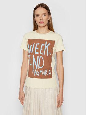 Weekend Max Mara Weekend Max Mara T-Shirt Rana 59760419 Béžová Regular Fit