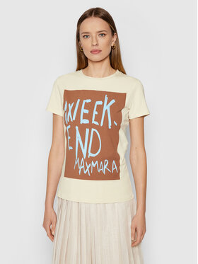 Weekend Max Mara Weekend Max Mara T-Shirt Rana 59760419 Beżowy Regular Fit