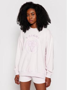 adidas adidas Majica dugih rukava Graphic Sweater H56450 Ružičasta Regular Fit