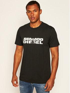 Diesel Diesel T-Shirt Bm0wt-Justdoo A01105 0WAXX Černá Regular Fit