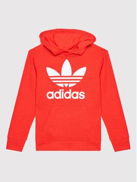 adidas adidas Bluza Trefoil H37764 Czerwony Regular Fit