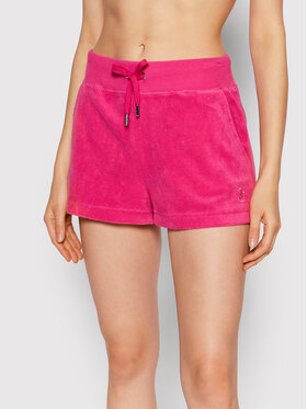Juicy Couture Juicy Couture Medžiaginiai šortai Terry JCCH121006 Rožinė Regular Fit