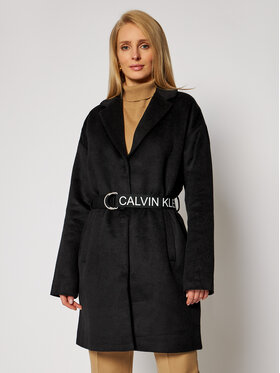 Calvin Klein Jeans Calvin Klein Jeans Преходно палто J20J214841 Черен Regular Fit