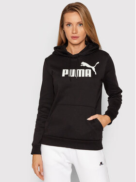 Puma Puma Bluza Essentials Logo 586788 Czarny Regular Fit