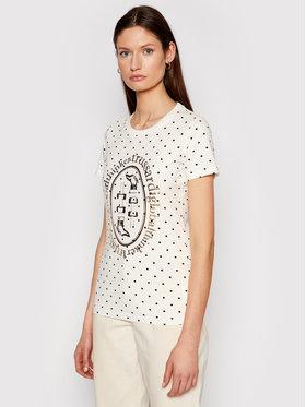 Trussardi Trussardi T-Shirt 56T00387 Bílá Slim Fit