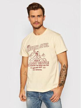 Unfair Athletics Unfair Athletics T-Shirt UNFR21-113 Beżowy Regular Fit
