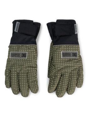 DC Lyžiarske rukavice EDYHN03045 Zelená