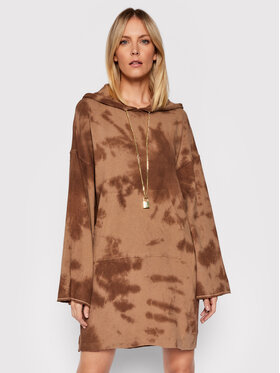 Pinko Pinko Džemper haljina Disegnare 202120 UNQS 1Q10AV 8641 Smeđa Relaxed Fit