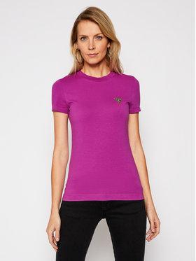 Guess Guess T-Shirt Mini Triangle W1RI04 J1311 Fioletowy Slim Fit