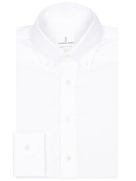 Emanuel Berg Emanuel Berg Chemise H37 Blanc Modern Fit
