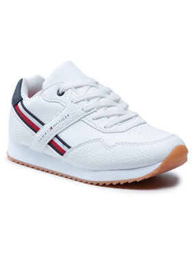 Tommy Hilfiger Tommy Hilfiger Sneakersy Low Cut Lace-Up Sneaker T3B4-31096-0621 M Biały