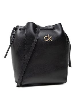 Calvin Klein Calvin Klein Дамска чанта Drawstring Bucket Bag K60K608176 Черен