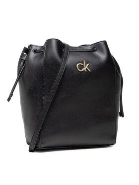 Calvin Klein Calvin Klein Geantă Drawstring Bucket Bag K60K608176 Negru