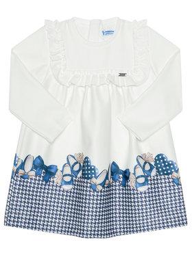 Mayoral Mayoral Každodenní šaty 2946 Bílá Regular Fit