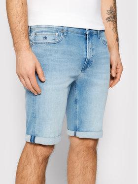 Calvin Klein Calvin Klein Szorty jeansowe Light K10K107213 Niebieski Slim Fit