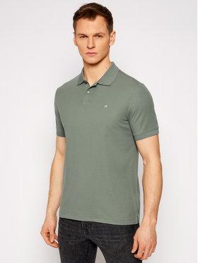 Calvin Klein Calvin Klein Тениска с яка и копчета Refined Pique Logo K10K102758 Зелен Slim Fit