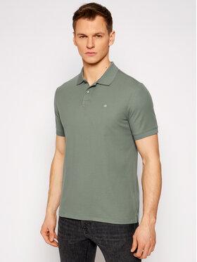Calvin Klein Calvin Klein Tricou polo Refined Pique Logo K10K102758 Verde Slim Fit