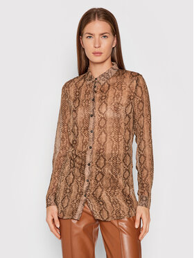 Guess Guess Camicia Clouis W1BH17 WDW52 Marrone Regular Fit