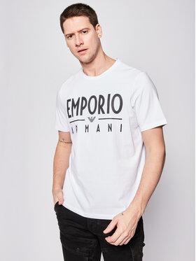 Emporio Armani Emporio Armani Tricou 3H1T90 1J0AZ 0100 Alb Regular Fit