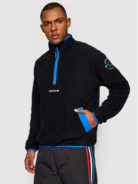 adidas adidas Fleecová mikina Adv Hz Fleece GN2376 Čierna Regular Fit