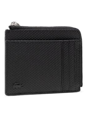 Lacoste Lacoste Duży Portfel Męski Zip Around Cc Wallet NH2823CE Czarny