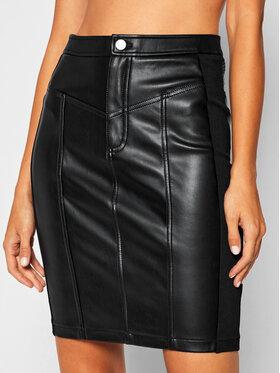 Calvin Klein Jeans Calvin Klein Jeans Kožená sukně Pencil J20J214186 Černá Slim Fit