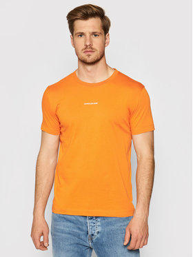 Calvin Klein Jeans Calvin Klein Jeans T-shirt J30J318067 Narančasta Slim Fit