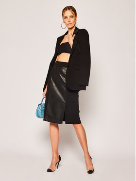 DKNY DKNY Puzdrová sukňa P9JHEDZX Čierna Regular Fit