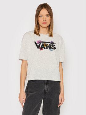 Vans Vans T-Shirt Sparse Flower VN0A5LBG Szary Relaxed Fit
