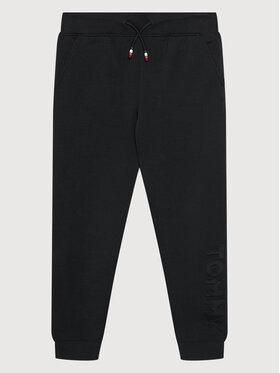 Tommy Hilfiger Tommy Hilfiger Spodnie dresowe Embossed KB0KB06383 D Czarny Regular Fit