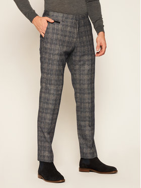 Roy Robson Roy Robson Текстилни панталони 212-01 Тъмносин Slim Fit