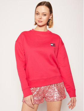 Tommy Jeans Tommy Jeans Felpa Badge Crew DW0DW07786 Rosa Loose Fit