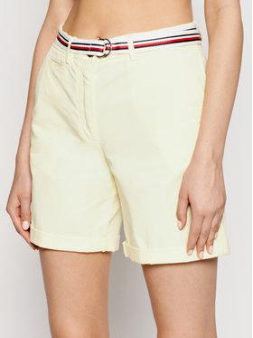 Tommy Hilfiger Tommy Hilfiger Kratke hlače Tencel WW0WW30482 Žuta Regular Fit