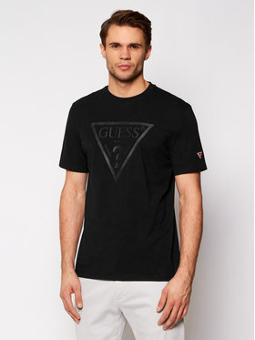 Guess Guess T-Shirt Ss U1GA06 J1311 Černá Regular Fit