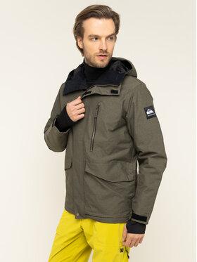 Quiksilver Snowboardová bunda Mission EQYTJ03221 Zelená Modern Fit