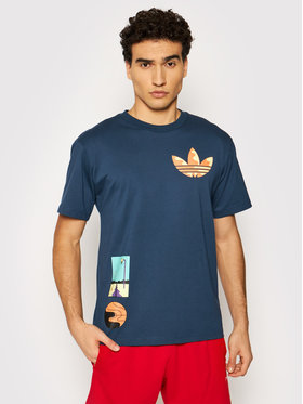 adidas adidas T-shirt Surreal Summer GN3902 Tamnoplava Regular Fit