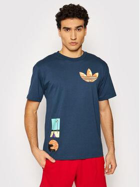 adidas adidas T-Shirt Surreal Summer GN3902 Tmavomodrá Regular Fit