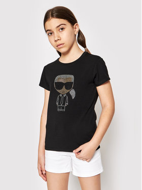 KARL LAGERFELD KARL LAGERFELD T-shirt Z15M53 S Nero Regular Fit