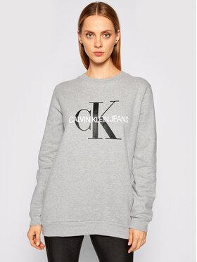 Calvin Klein Jeans Calvin Klein Jeans Pulóver Core Monogram Logo J20J207877 Szürke Relaxed Fit